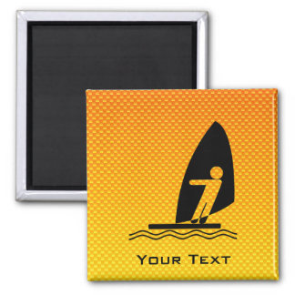El Windsurfing amarillo-naranja Imán De Frigorifico