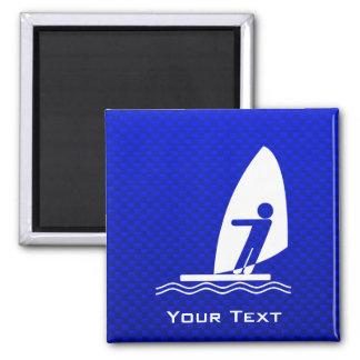 El Windsurfing azul Imán