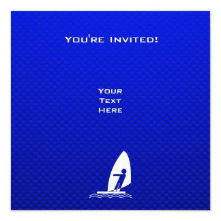"""El Windsurfing azul Invitación 5.25"""" X 5.25"""""""