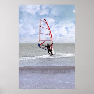 el windsurfing en una tormenta posters