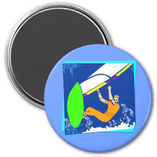 El Windsurfing Imán Para Frigorífico