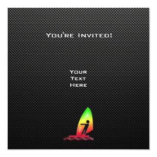 """El Windsurfing liso Invitación 5.25"""" X 5.25"""""""
