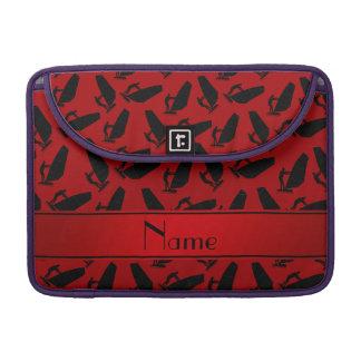 El windsurfing negro rojo conocido personalizado funda para macbook pro