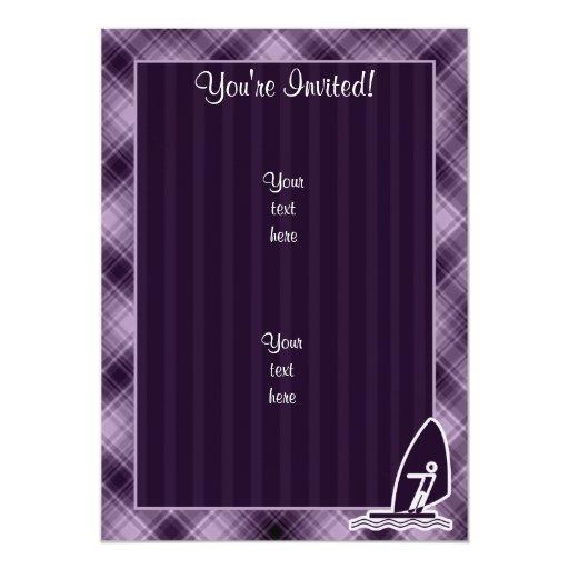 El Windsurfing púrpura Invitación 12,7 X 17,8 Cm