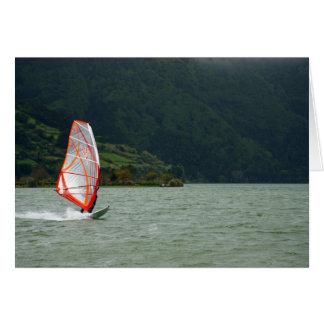 El Windsurfing Tarjeta De Felicitación
