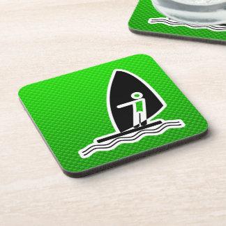 El Windsurfing verde Posavasos De Bebida