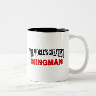 El Wingman más grande del mundo Taza De Dos Tonos