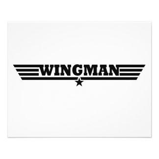 """El Wingman se va volando el logotipo Folleto 4.5"""" X 5.6"""""""