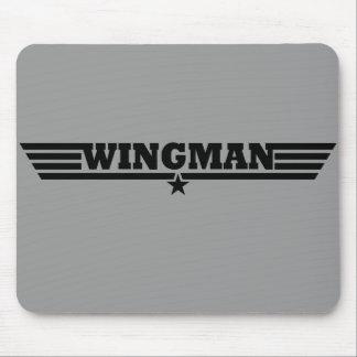 El Wingman se va volando el logotipo Tapete De Ratón