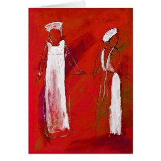 el wo cuida en la pintura blanca en acrílico por e felicitación
