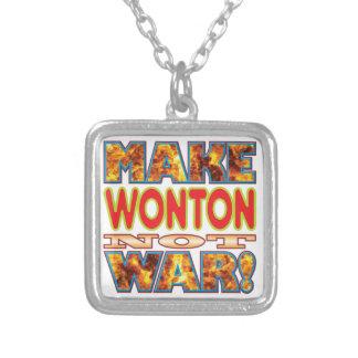 El Wonton hace X Colgante Cuadrado