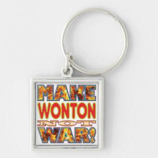 El Wonton hace X Llavero Cuadrado Plateado