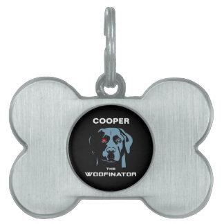 El Woofinator Labrador Placas De Nombre De Mascota