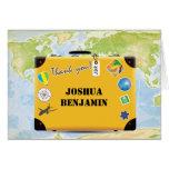 El World Travel de la maleta temático le agradece Tarjetas
