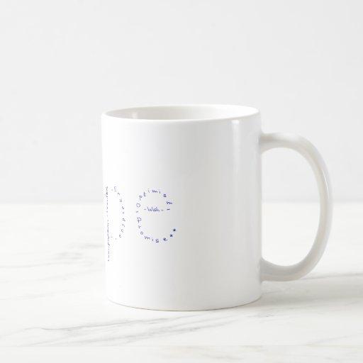 El wow de abril - Esperanza - azul Tazas De Café