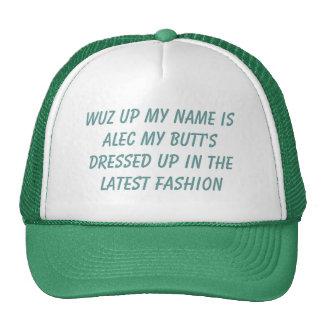 el wuz encima de mi nombre es alec mi extremo vest gorra