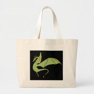 El Wyrm (verde) Bolsa Tela Grande