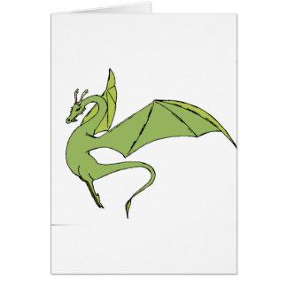 El Wyrm (verde) Tarjeta De Felicitación