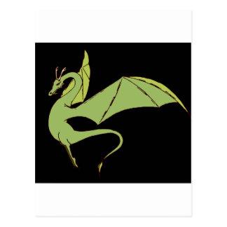 El Wyrm (verde) Tarjeta Postal