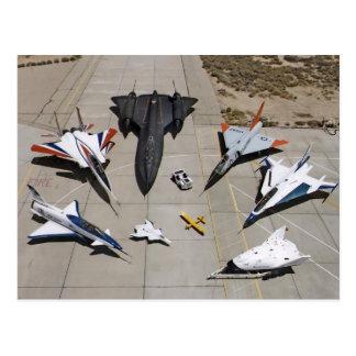 El X-31, F-15S/MTD, SR-71, F-106, postal de F-16XL