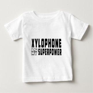 El xilófono es mi superpotencia camisetas