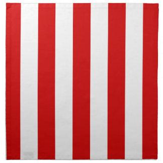El XL rojo y blanco raya el modelo Servilleta