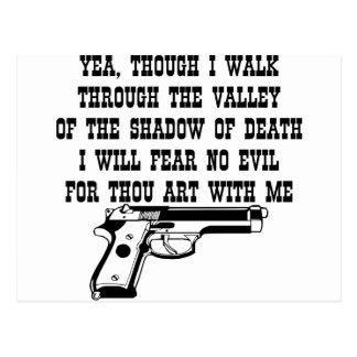 El Yea aunque camino por (mi arma está conmigo) Postales
