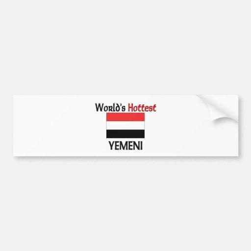 El Yemeni más caliente del mundo Etiqueta De Parachoque