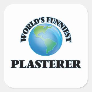 El yesero más divertido del mundo pegatina cuadrada