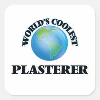 El yesero más fresco del mundo pegatina cuadrada