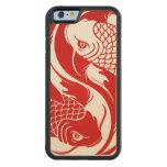el yin del koi yaRed y los pescados blancos de Yin Funda De iPhone 6 Bumper Arce