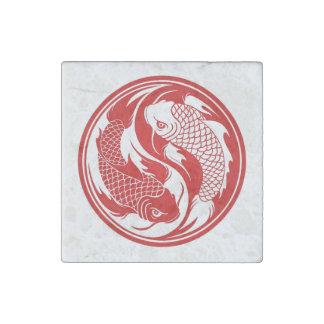 el yin del koi yaRed y los pescados blancos de Yin Imán De Piedra
