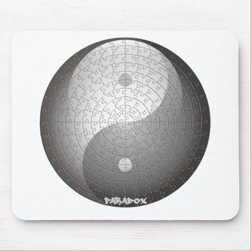 el ying y yang alfombrilla de raton