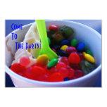 El yogur y el caramelo brillante del color de invitación 8,9 x 12,7 cm
