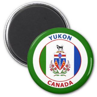 EL YUKÓN, CANADÁ IMÁN REDONDO 5 CM