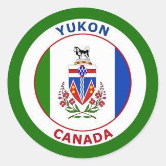 EL YUKÓN, CANADÁ PEGATINA REDONDA