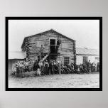 El Yukón Gold Company en Dawson 1914 Póster