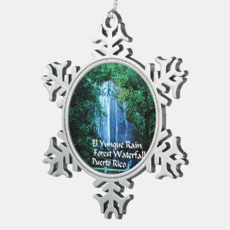 El Yunique Rainforest Snowflake Pewter Christmas Ornament