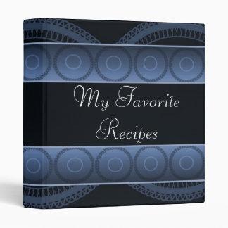 El zafiro circunda el libro de la receta