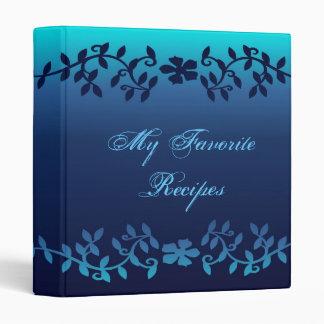 El zafiro elegante sale del libro de la receta