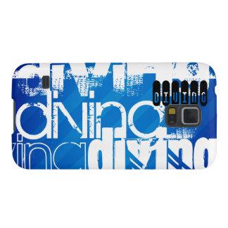 El zambullirse; Rayas azules reales Funda De Galaxy S5