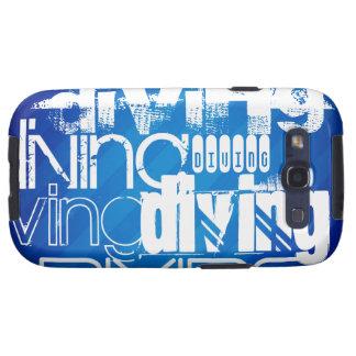 El zambullirse; Rayas azules reales Samsung Galaxy SIII Funda