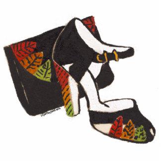 el zapato con clase y el bolso de la mamá escultura fotografica