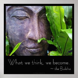 El zen Buda qué pensamos hacemos poster