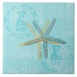 El zen inspiró estrellas de mar del tema de la pla tejas  ceramicas
