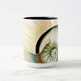 El zen inspiró tema de la playa taza de dos tonos