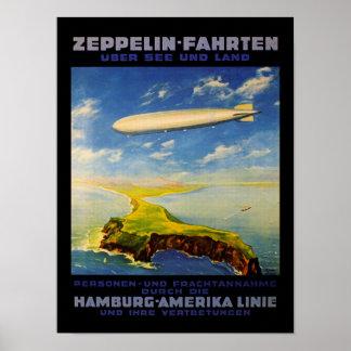 El zepelín dispara el ~ sobre el mar y la tierra poster
