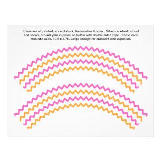 El zigzag 2 genérico personaliza las envolturas de tarjetas publicitarias
