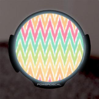 El zigzag anaranjado de Ikat Chevron del trullo ra Sticker LED Para Ventana