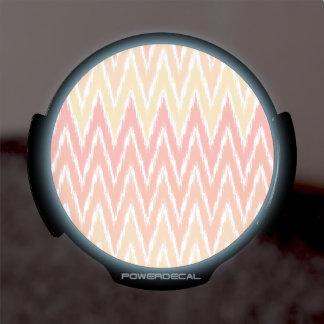 El zigzag anaranjado de Ombre Ikat Chevron raya el Pegatina LED Para Ventana